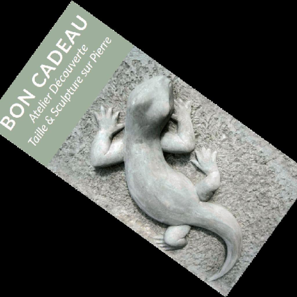 Bons de cadeaux pour atelier découvert proche Toulouse de sculpture sur pierre chez Marlie Kentish Barnes, artisan de la pierre, sculpteur et tailleur de pierre. Atelier dans le joli village médiéval de Rabastens.