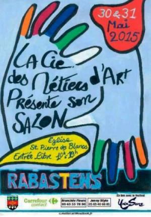 13ème Salon des Métiers d'Art à Rabastens. Marlie Kentish Barnes expose ses sculptures sur pierre.